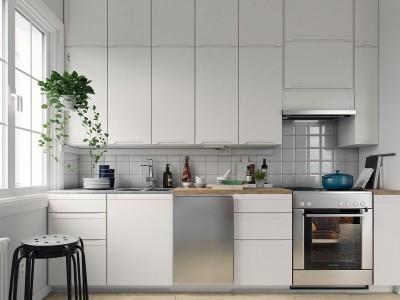 Amenajarea bucătăriei la bloc în stil scandinav