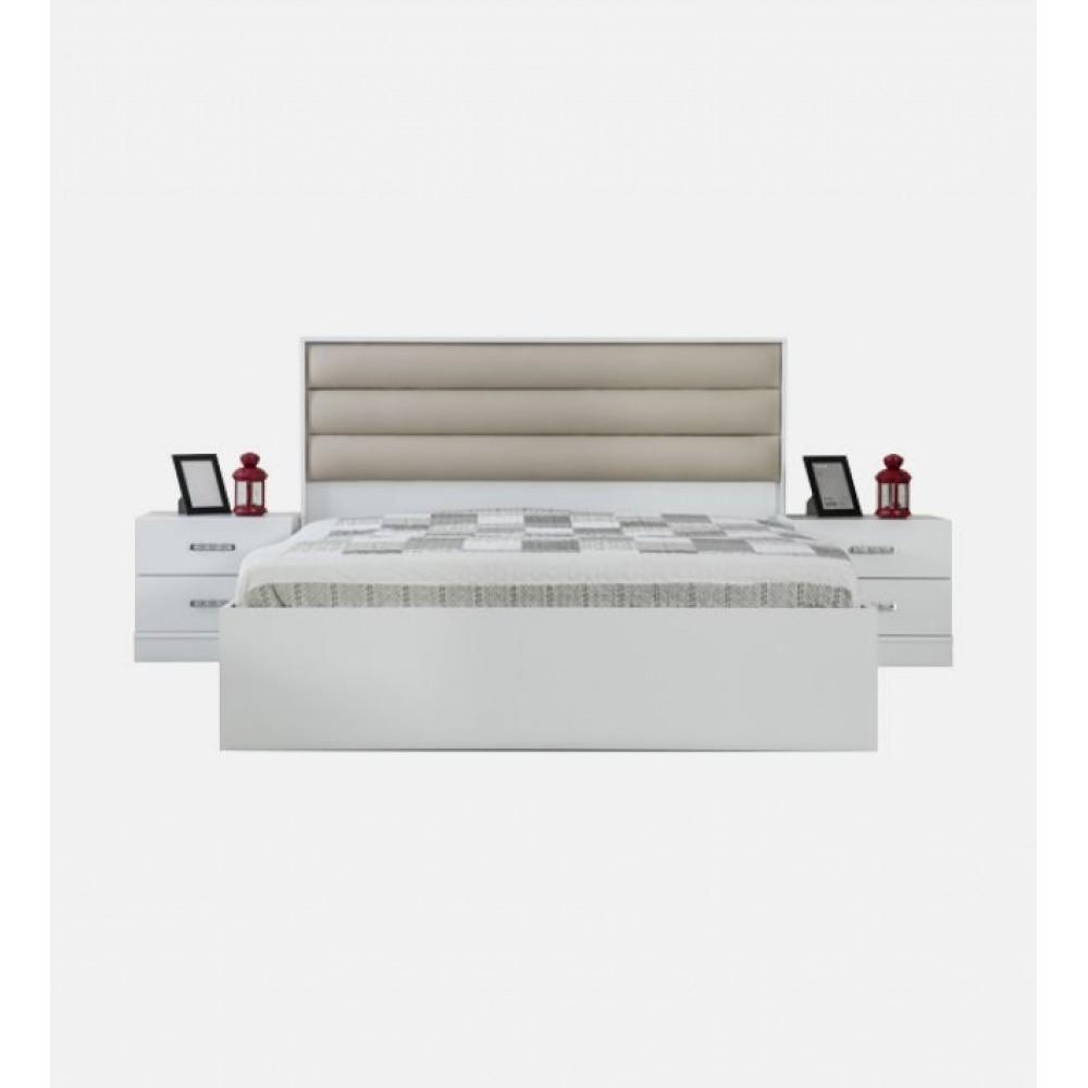 Set dormitor Alpino Destina alb 5 corpuri