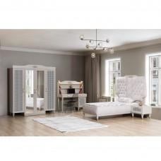 Set dormitor tineret Flora Alpino 4 piese
