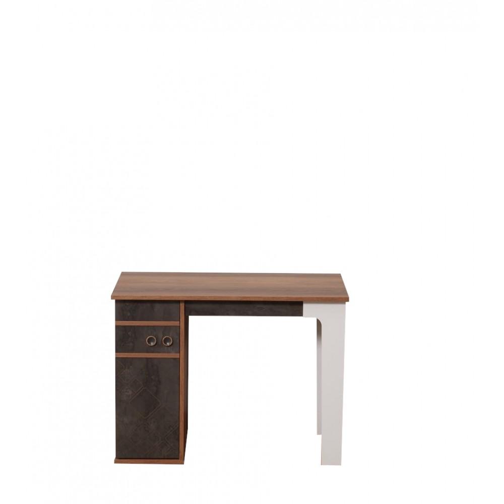 Birou Fred Alpino culoare maro/alb dimensiuni 1000 x 550 x 755mm