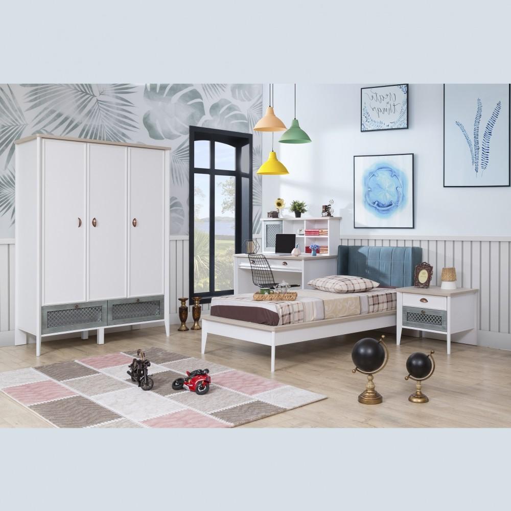 Set dormitor tineret Meknes Alpino 4 piese
