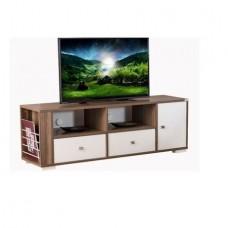 Comoda TV Alpino Merkur, 500 x 1502 x 400 mm, Alb/Maro