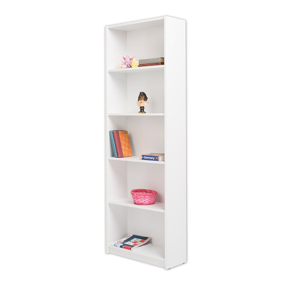 Set birou Ogrenci Alpino culoare alb 2 piese, birou 75.5 x46 cm h 70 cm ,dulap cu rafturi 60x30cm h 181.5cm