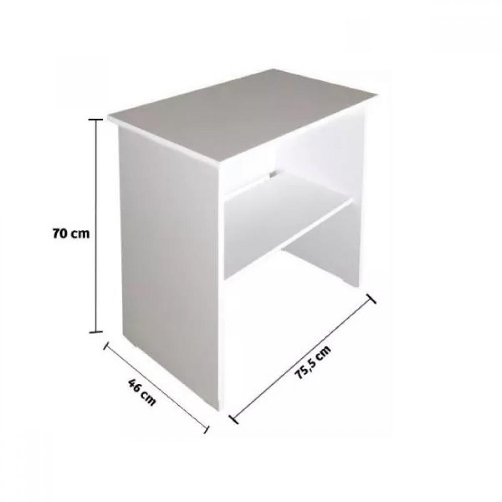 Birou Ogrenci Alpino culoare alb dimensiuni 75.5x46cm h 70cm