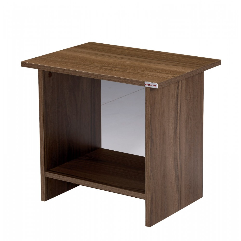 Set birou Orbit Alpino culoare maro/alb 4 piese, birou200x140cm ,masuta de cafea 55x40cm, comoda cu sertare 45x50cm si biblioteca 58x23cm