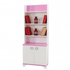 Biblioteca Alpino Princess, 1822 x 702 x 343 mm, Alb/Roz