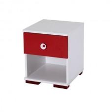 Comoda Alpino Red, 400 x 400 x479 mm, Alb/Rosu