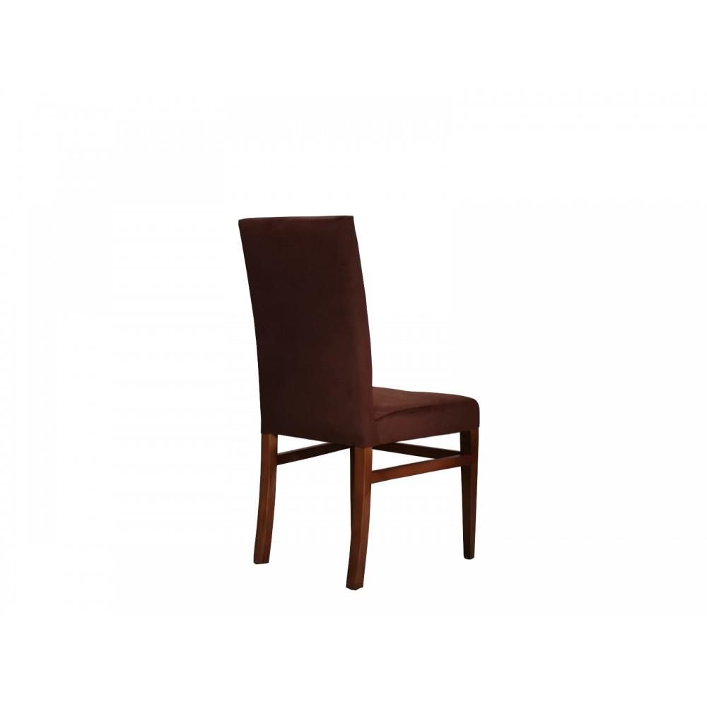 Set 2 scaune living Simge vizon maro picioare lemn