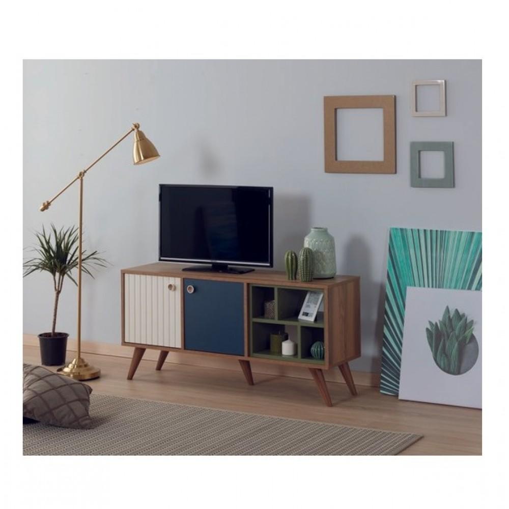 Comoda TV Alpino Trent, 1351mm x380mm x h636 mm, Maro