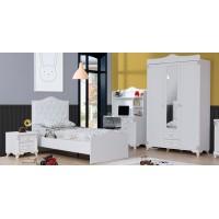 Dormitor tineret Belinay Alpino culoare alb  5 piese