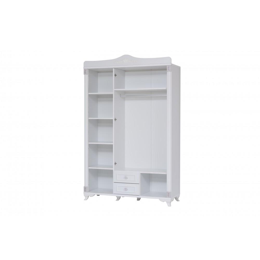 Dormitor tineret Belinay Alpino culoare alb  4 piese