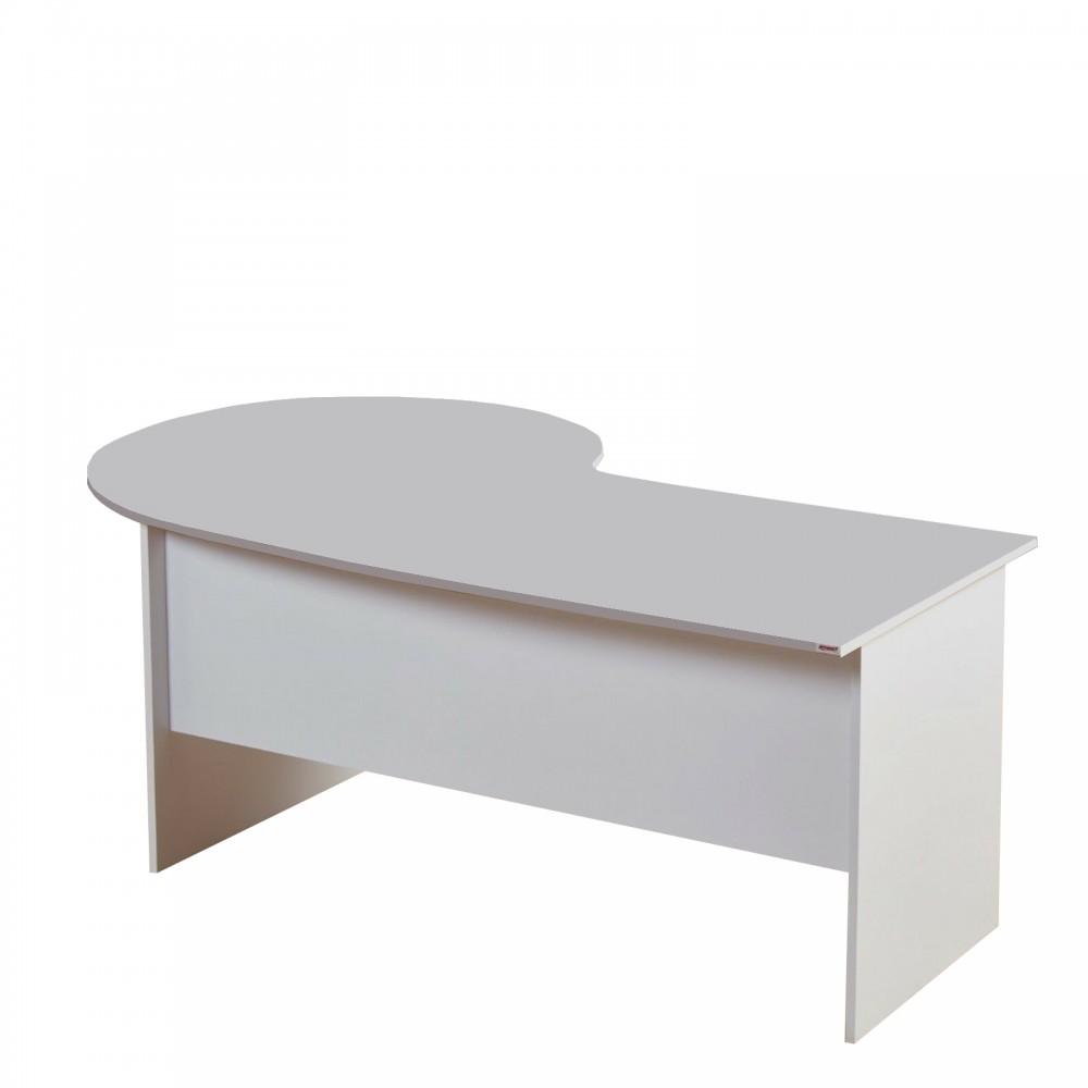Birou Kristal culoare alb dimensiuni L2000 h750 latime1 800 latime 2-1200mm