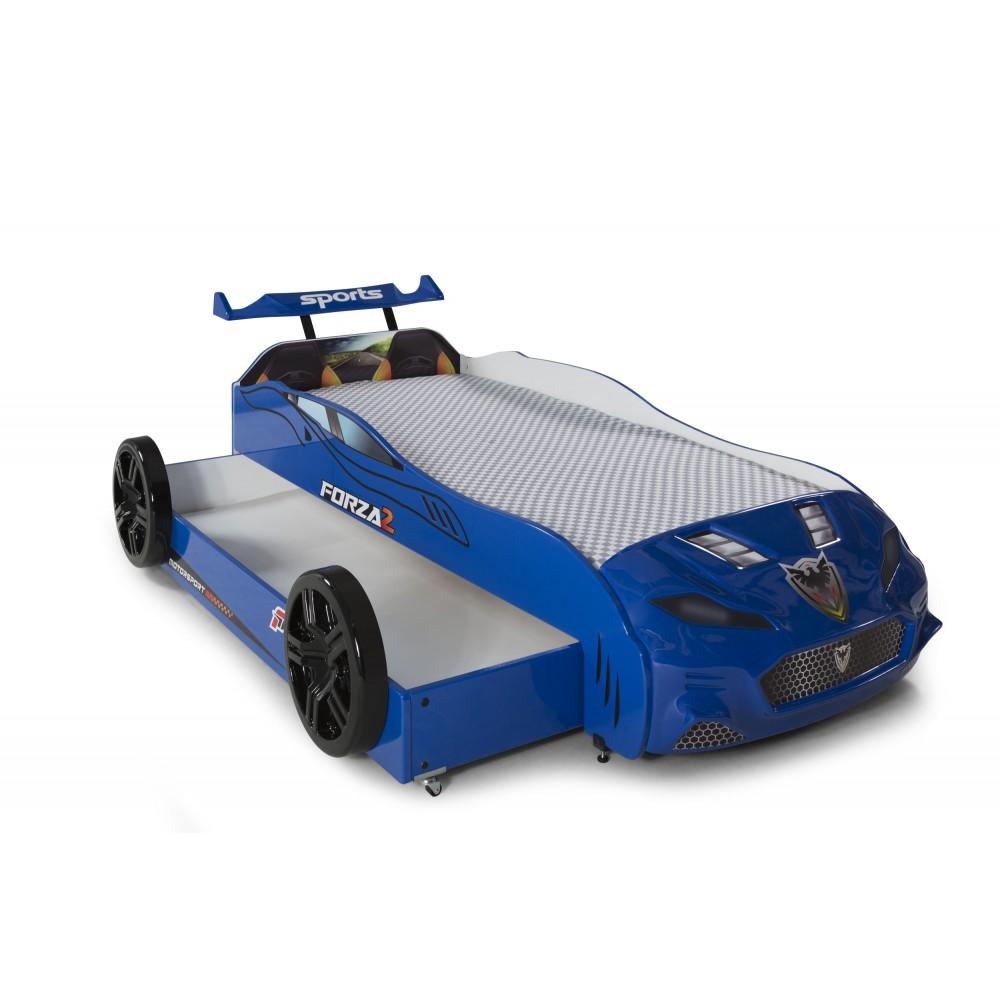 Pat copii Masina Forza albastru