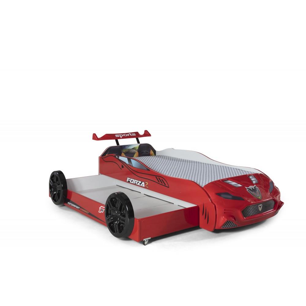 Pat copii Masina Forza rosu
