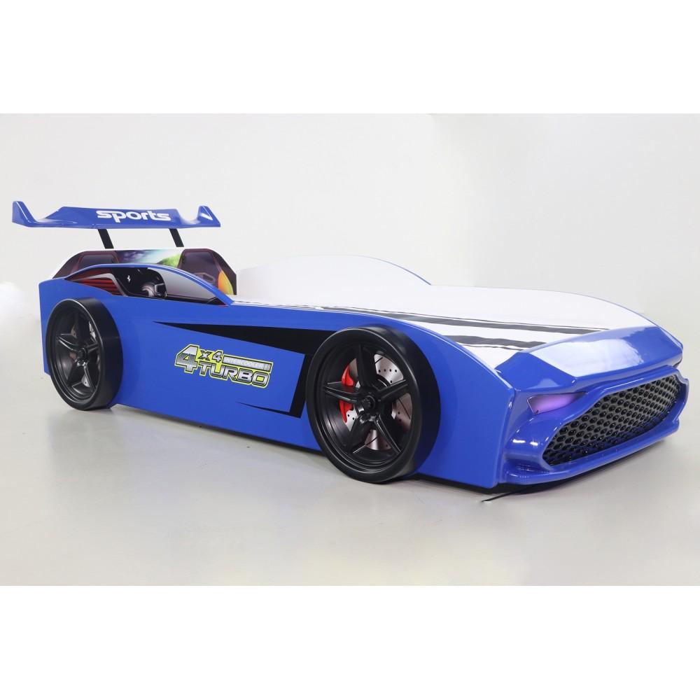 Pat copii Masina GT18 albastra