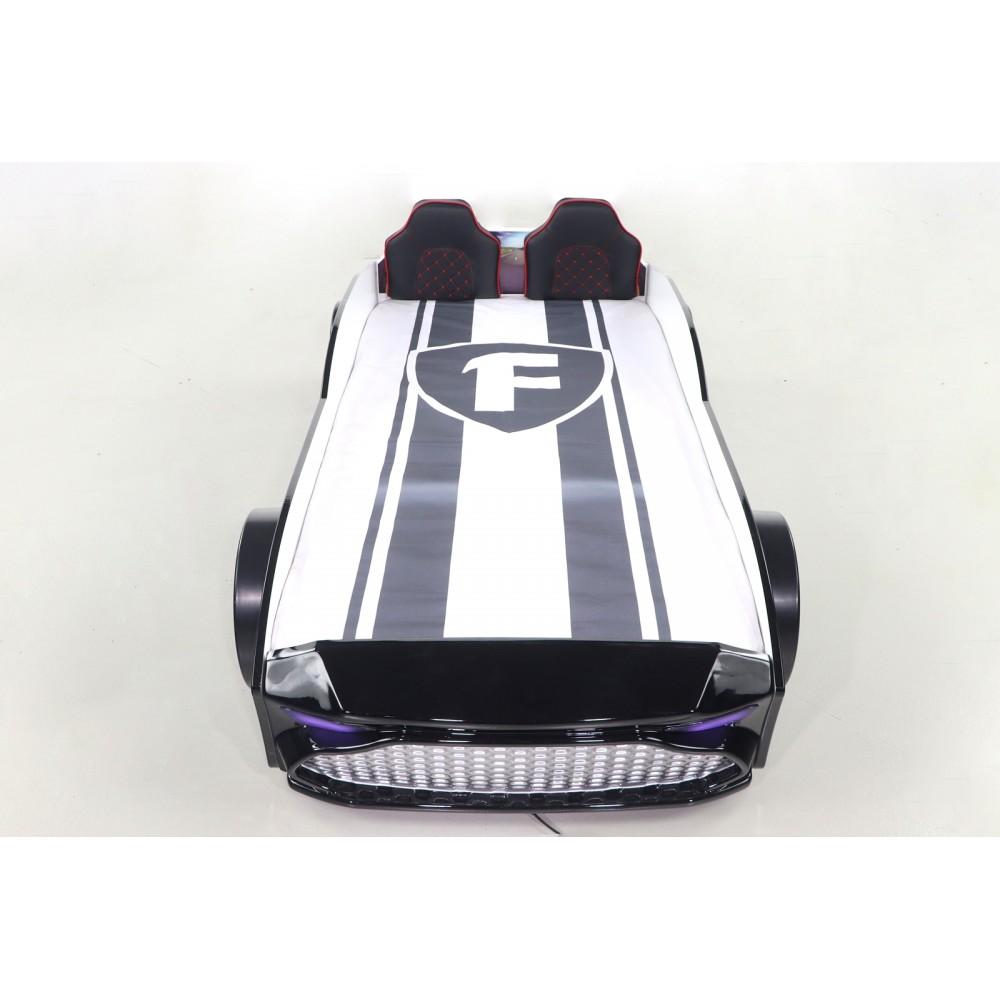 Pat copii Masina GT18 neagra