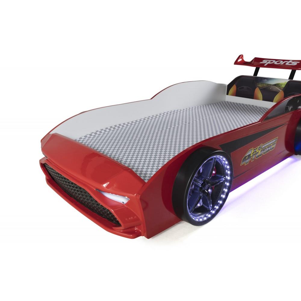 Pat copii Masina GT18 rosie
