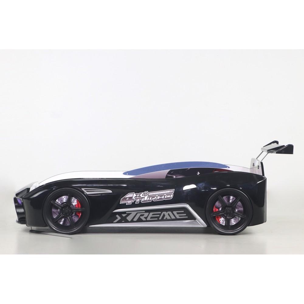 Pat copii Masina Aston negru