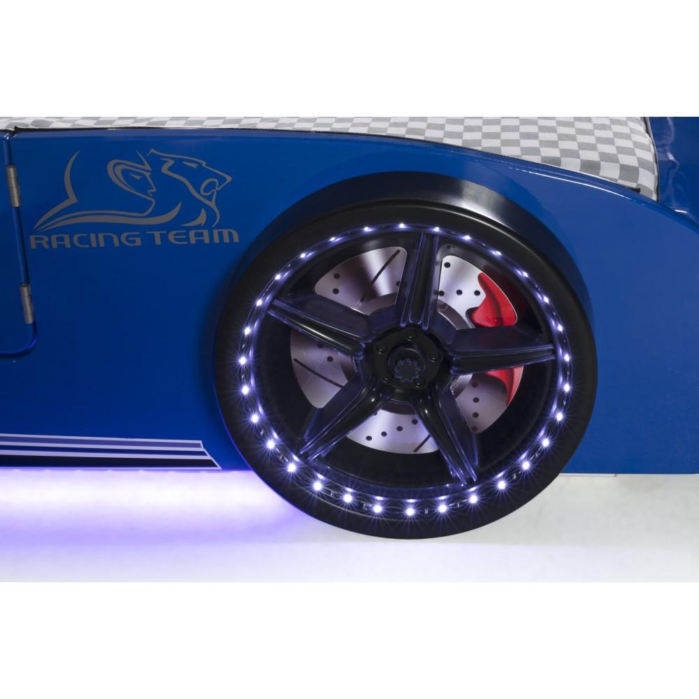 Pat copii Masina Mustang albastru