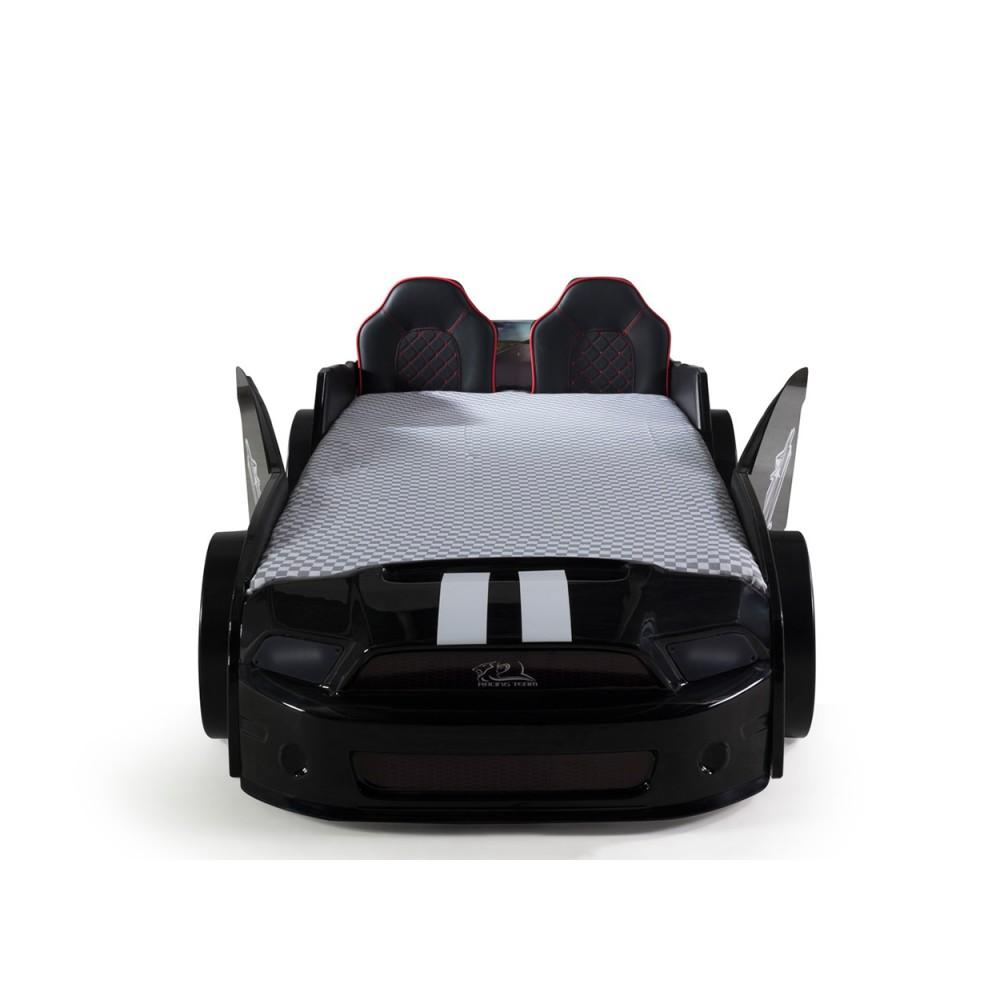 Pat copii Masina Mustang negru