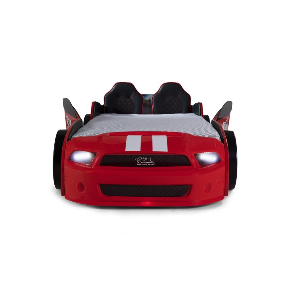 Pat copii Masina Mustang rosu