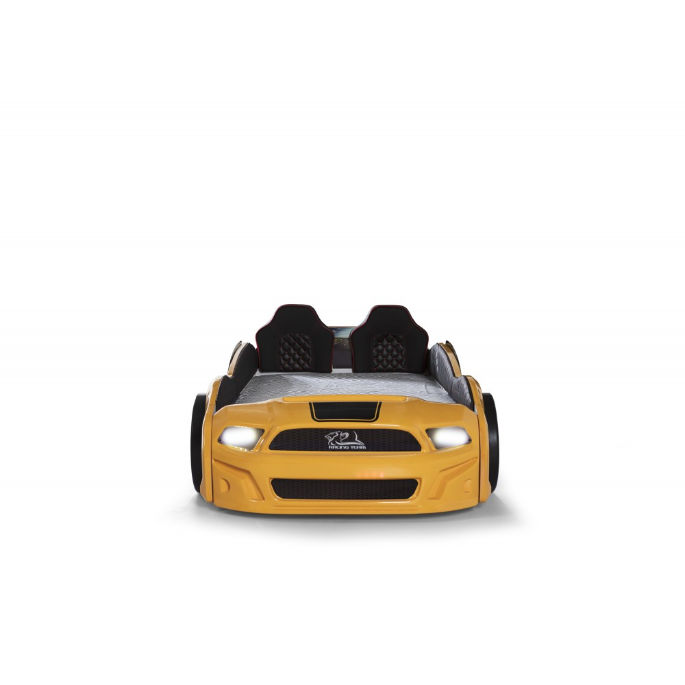 Pat copii Masina Mustang galben