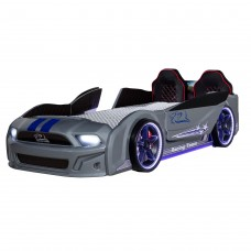 Pat copii Masina Mustang argintiu