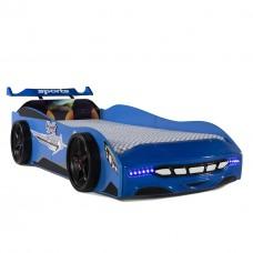 Pat copii Masina Sport albastra