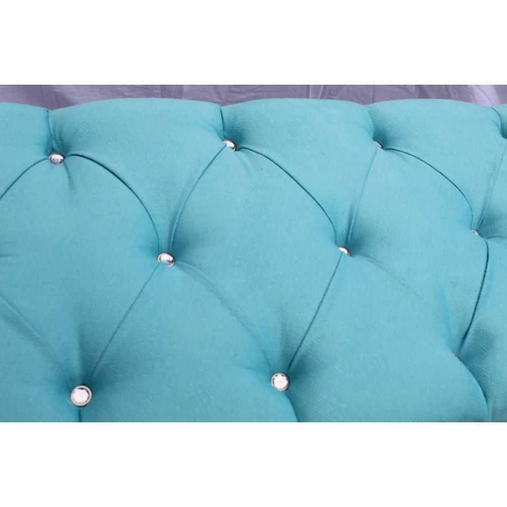 Bancheta tapitata albastra  90x40xh50cm