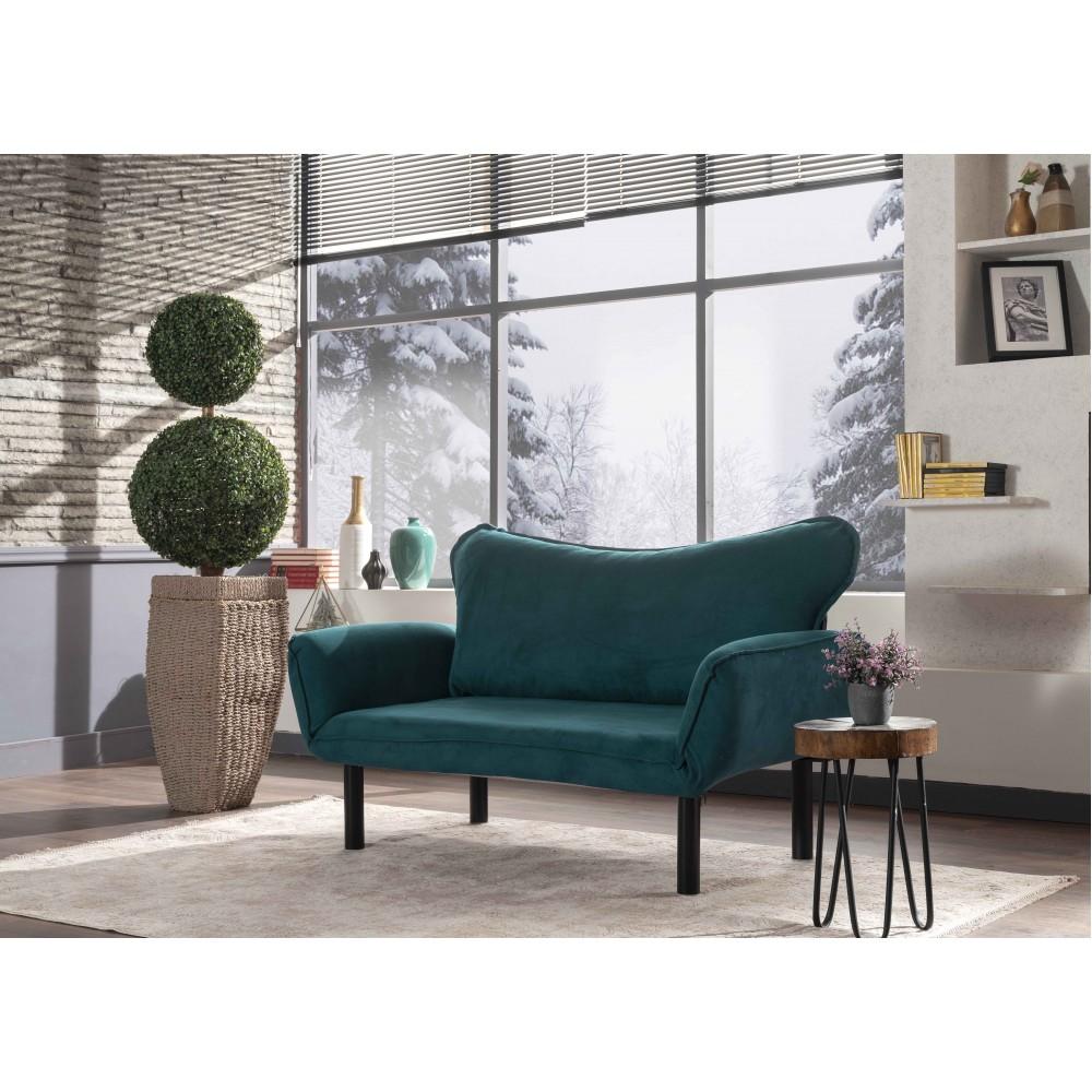 Canapea Chatto Verde cu 2 locuri