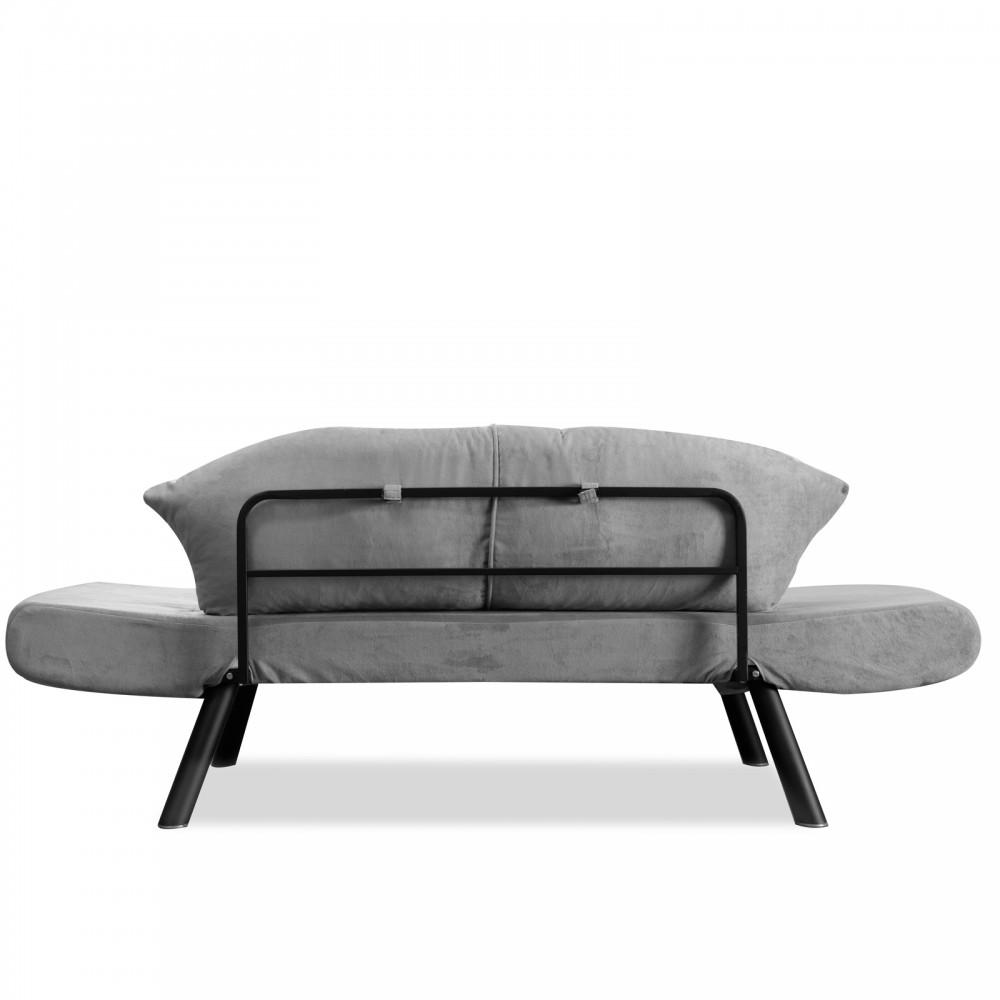 Canapea Genzo Gri cu 2 locuri