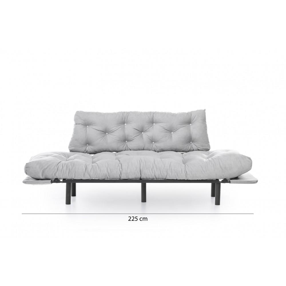 Canapea Nitta Gri cu 3 locuri