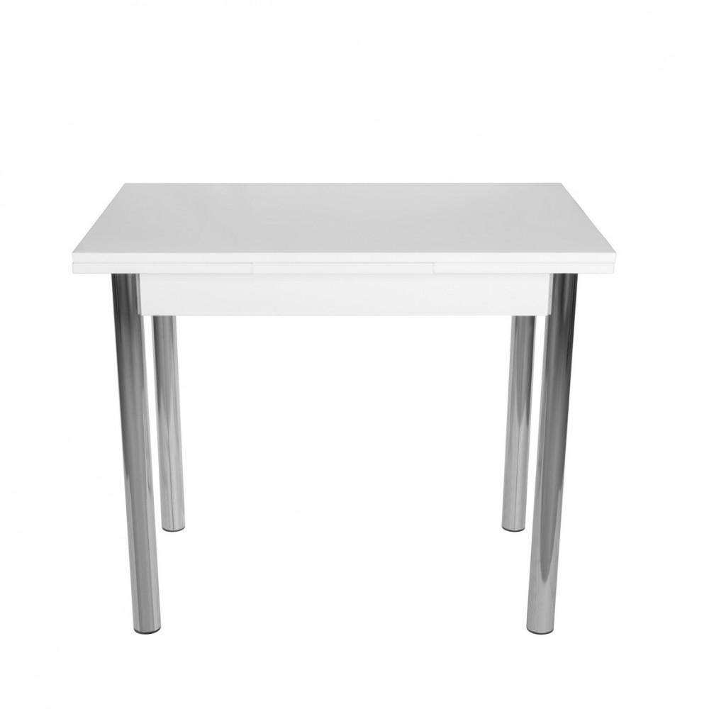 Set masa extensibila 90x60 cu 2 scaune Pedli alb
