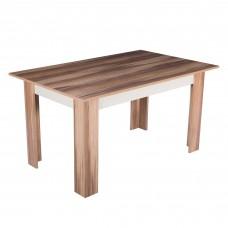 Masa de bucatarie Alpino Hazal, 760 x 1450 x 900 mm, Stejar(scaunele nu sunt incluse in pret)