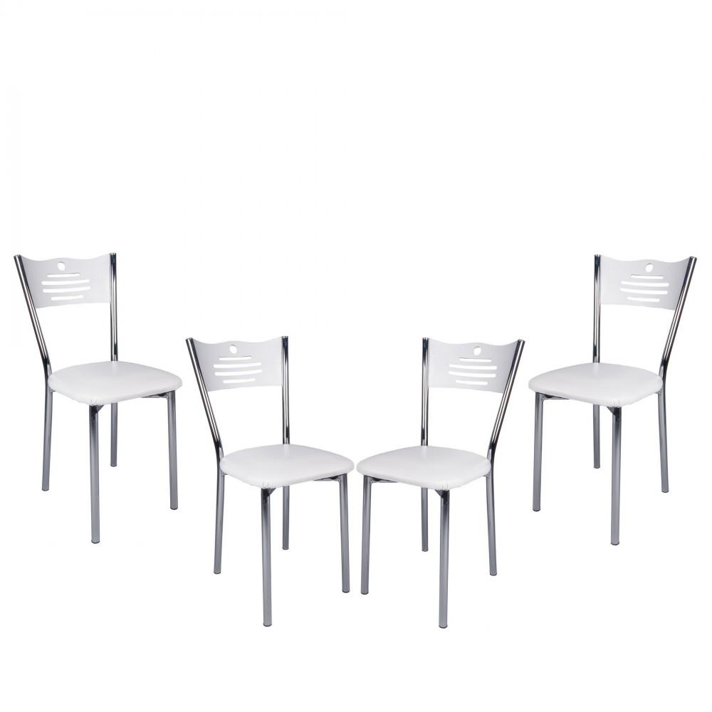 Set masa extensibila cu 4 scaune Eco Alb