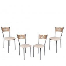Set 4 scaune de bucatarie piele ecologica Samba