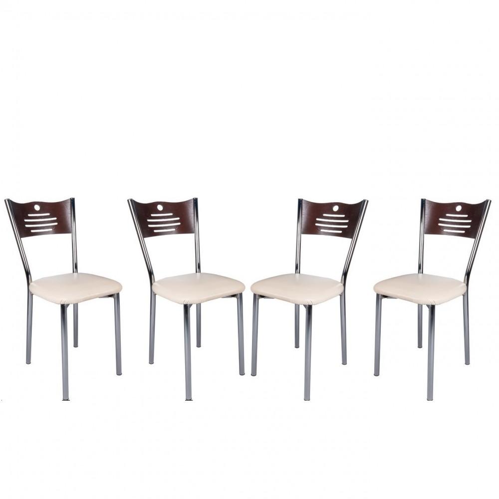 Set 4 scaune de bucatarie eco Wenge