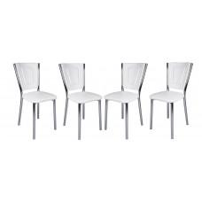 Set 4 scaune bucatarie Efes albe