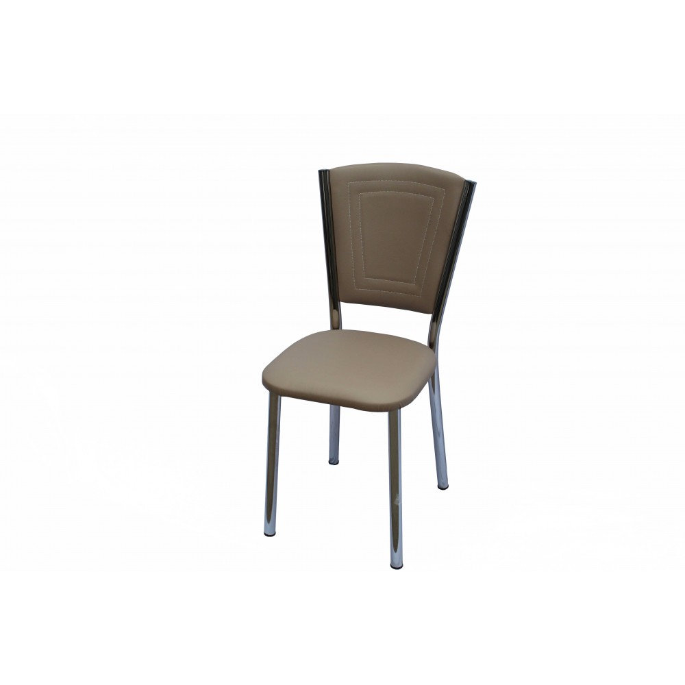 Set 4 scaune Efes piele ecologica capucino