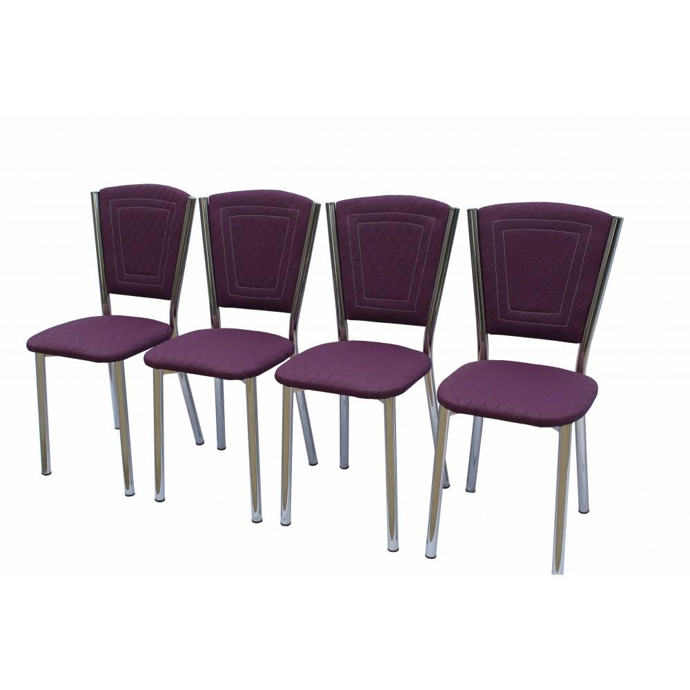 Set 4 scaune Efes piele ecologica ecose mov
