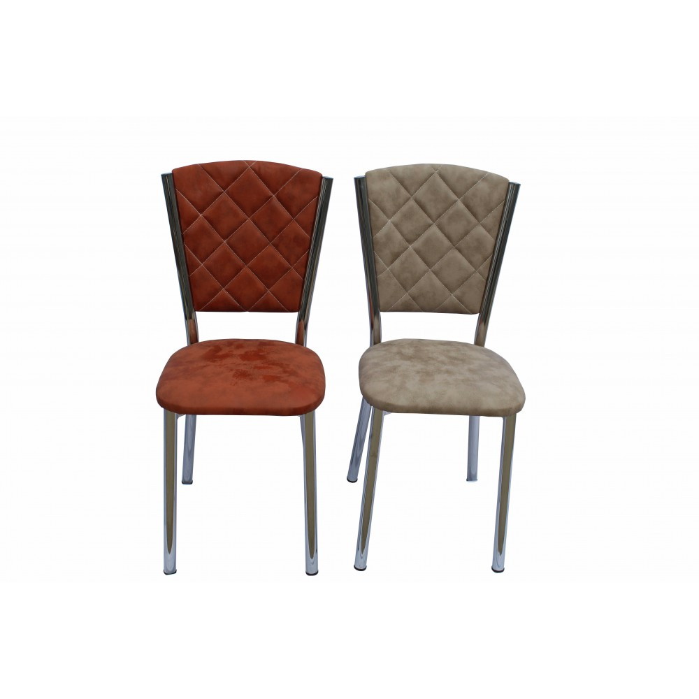 Set 4 scaune Efes piele ecologica sonbahar multicolor