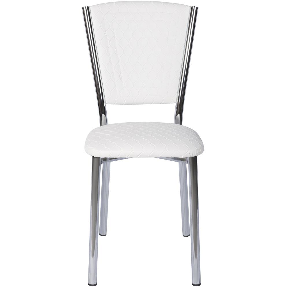 Set masa extensibila 110 x 70 alba cu 4 scaune Efes albe