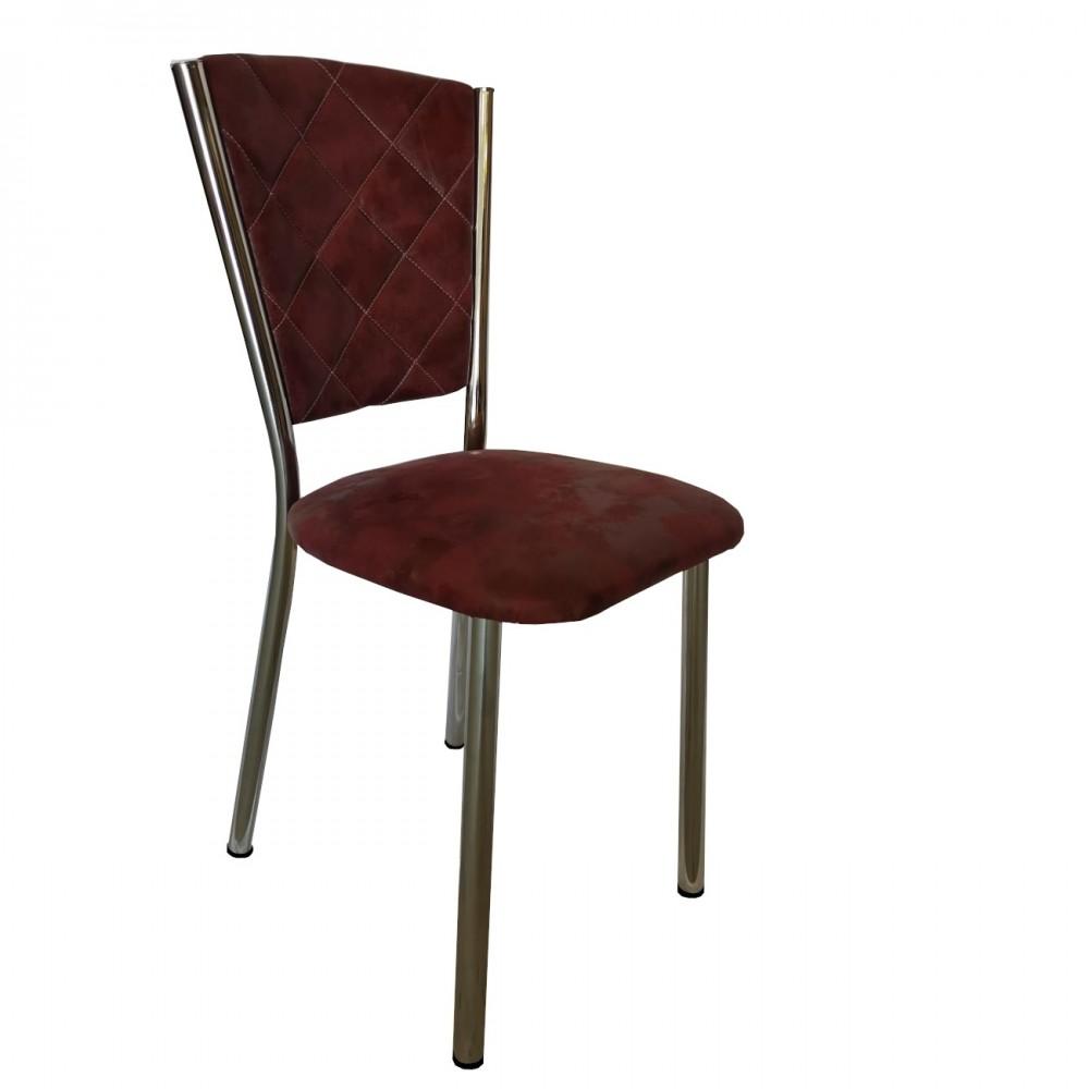 Set 4 scaune Efes piele ecologica bordo