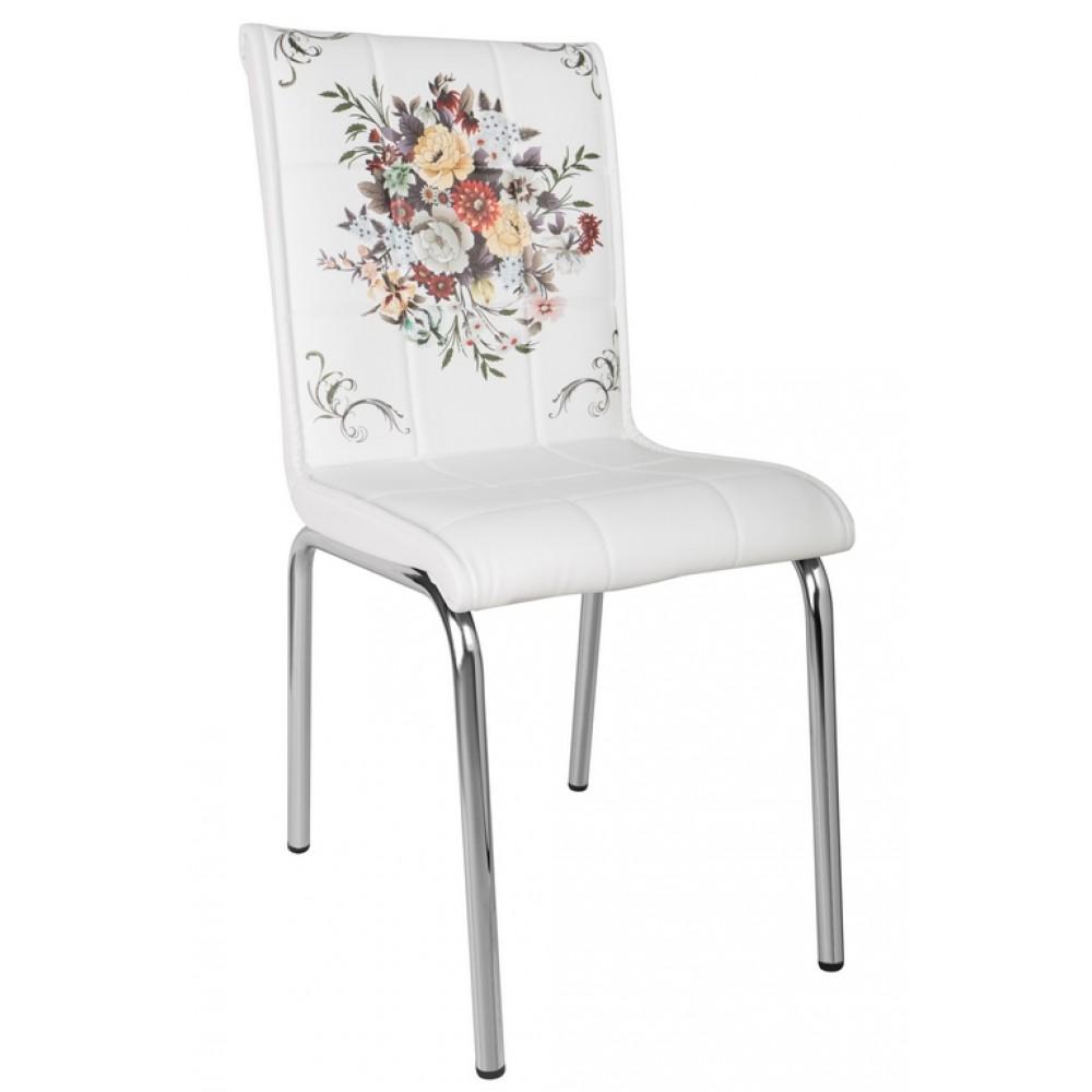 Set masa extensibila 90x60 cu 2 scaune Buchet de flori