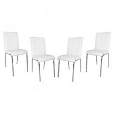 Set 4 scaune Pedli albe