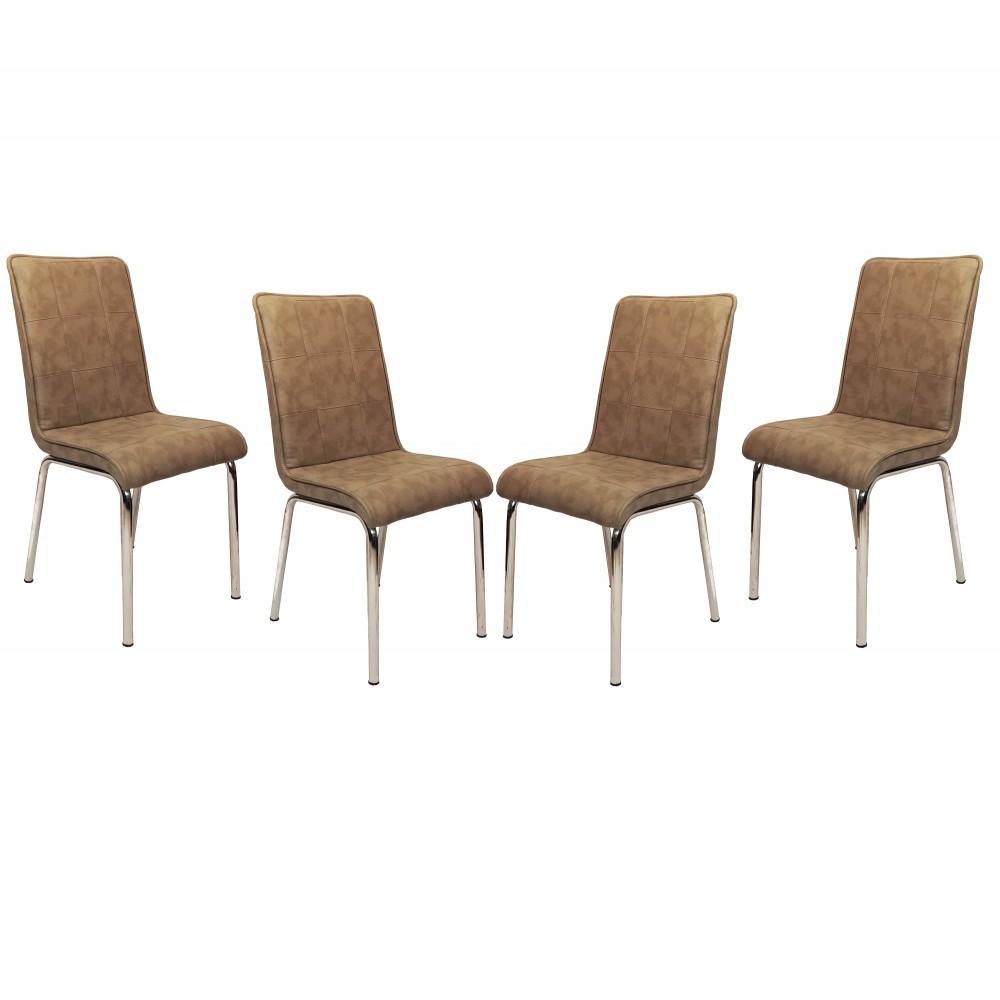 Set 4 scaune Pedli Almera  capucino