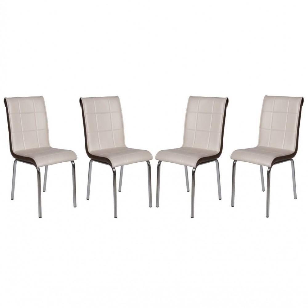 Set 4 scaune Pedli capucino