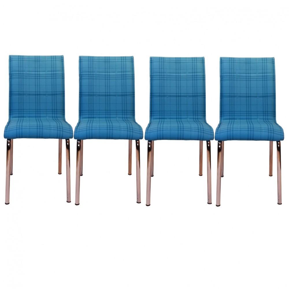 Set 4 scaune Pedli Ekose  albastru