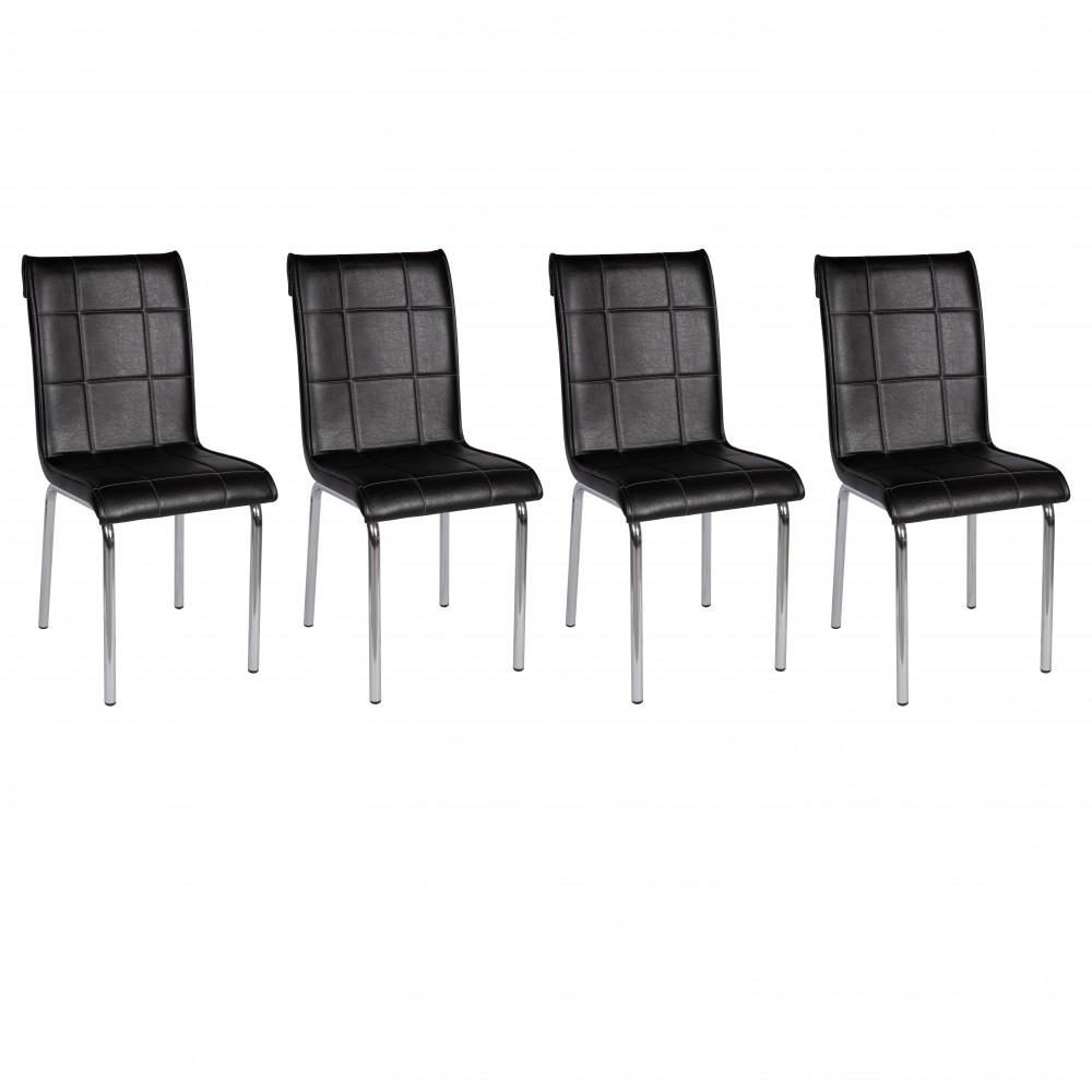 Set 4 scaune pedli Lincoln  negre