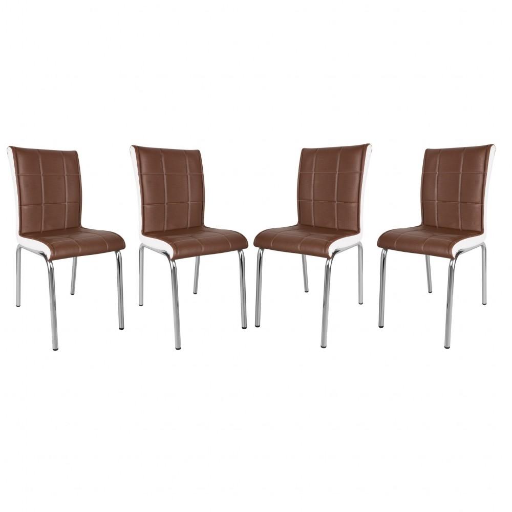 Set 4 scaune Pedli  maro